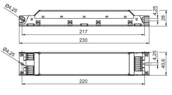 Электронный балласт 236 схема.